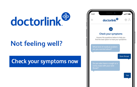 DoctorLink. Not feeling well. Check your symptoms now